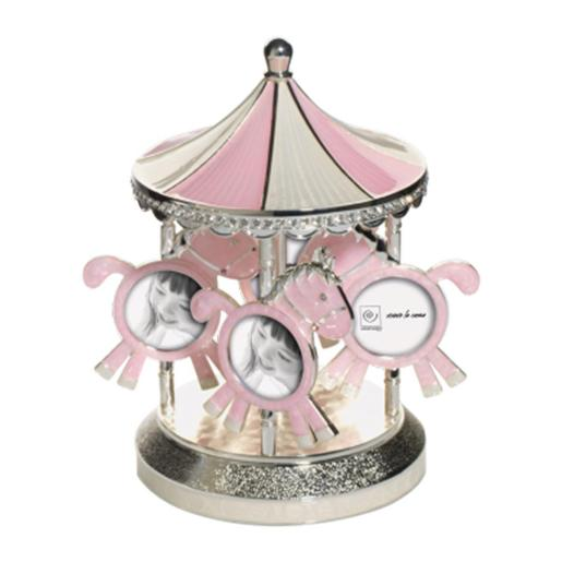 Baby Carrillom Pink Sliver Plated