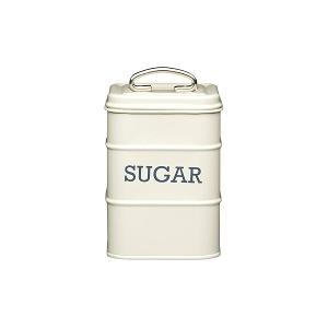 Canister Sugar Dia 11x17cm Stainless Steel Creme