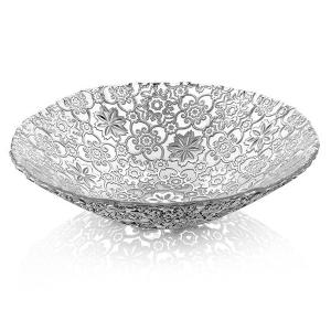 Arabesque Fruit Bowl Centrepiece 33cm Silver