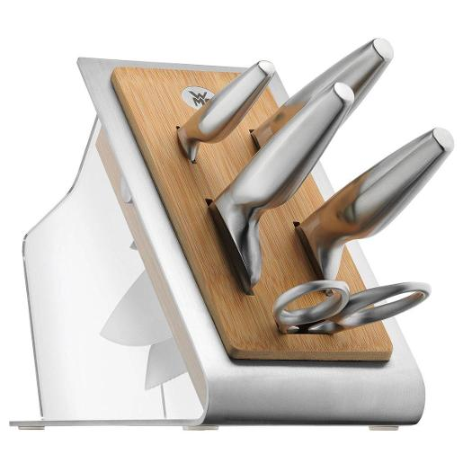 Knife Block Set with 4 Knives & Scissors