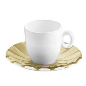 Grace Espresso Cups & Saucers Set of 6 Pieces Sand