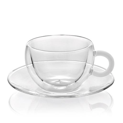 Tea Cups Double Wall Set of 2 Pieces Clear