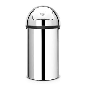 Push Bin 60 Liter Brilliant Steel
