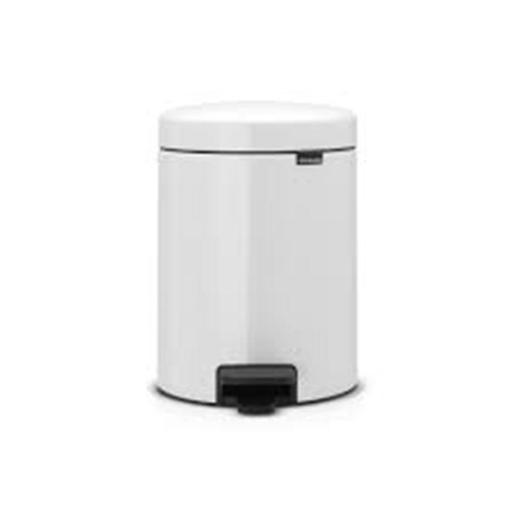 New Icon Pedal Bin 5 Liter White