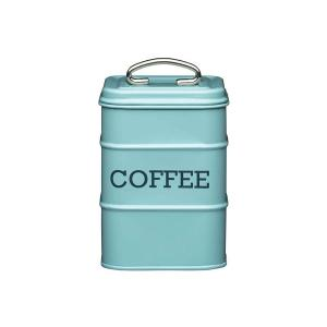 Coffee Canister  Dia 11x17cm Stainless Steel Blue