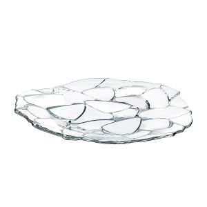 Petals Charger Plate Dia 32cm Crystal