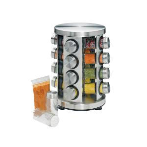 Spice Rack with 16 Spices Rotary S/Steel