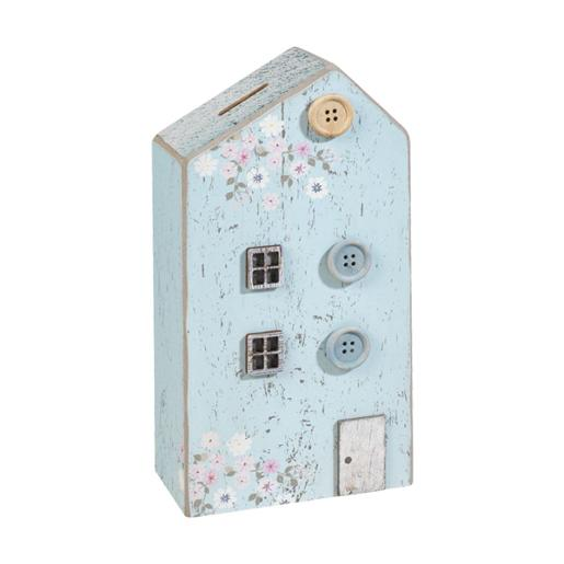 Home Wooden Money Bank With Relief Decorations