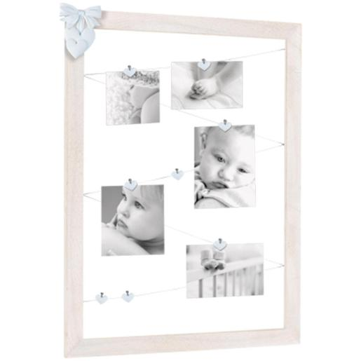 Tenderness Multi Frame With Resin Decorations And Clips Blue