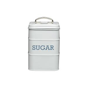 Sugar Canister Dia 11x17 cm Stainless Steel Grey