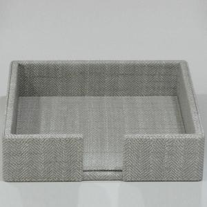 Large Napkin Holder Leather Light Grey