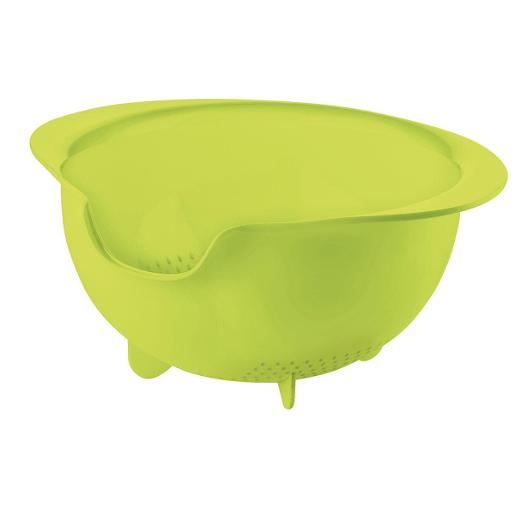 Easy Pouring Colander Green