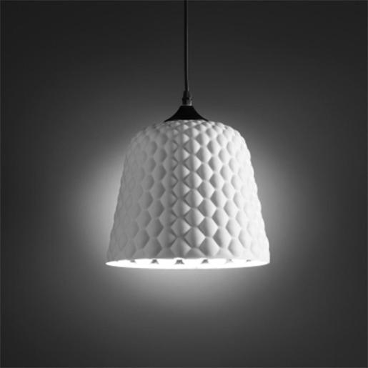 Glass Ceiling Lamp With Mirrored Inner Shade