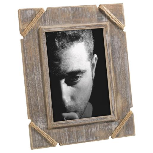 Raw Wooden Photo Frame With Rope