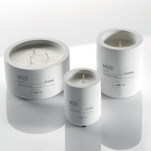 Scented Candles With Ceramic Jar Dia 33cm White