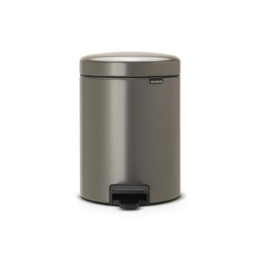 New Icon Pedal Bin 5  Liter Platinum