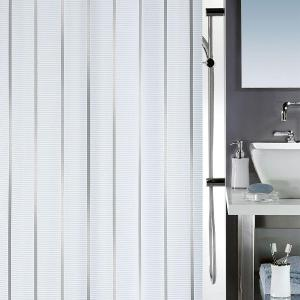 Vento Shower Curtain Textile Silver 180 x 200 cm