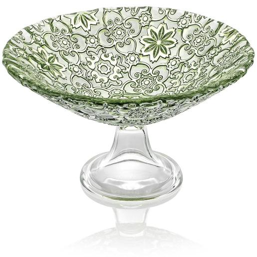 Arabesque Footed Bowl 25cm Green