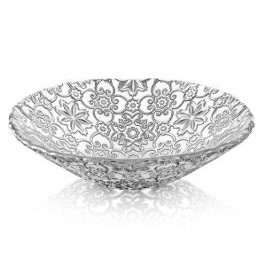 Arabesque Fruit Bowl Centrepiece 25cm Silver
