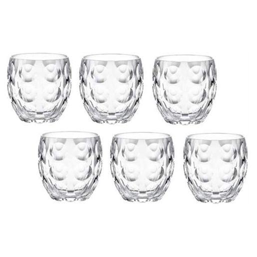 Venice Glasses Transparent Set of 6 Pieces
