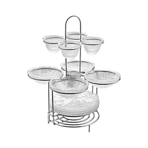 Diamante Stand With 4 Salad Bowls