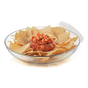 Selene Chips and Dip Glass Set of 3 Pieces
