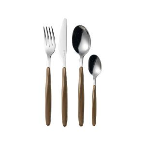 My Fusion Cutlery Set Of 24 Pieces Brown