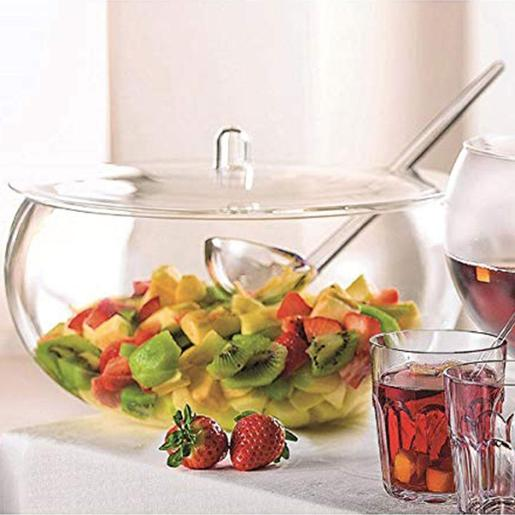 Bowl With Lid And Ladle Transparent