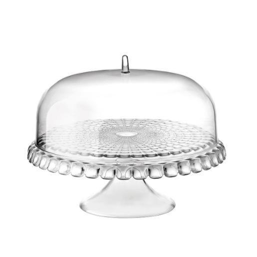 Cake Stand With Dome Transparent