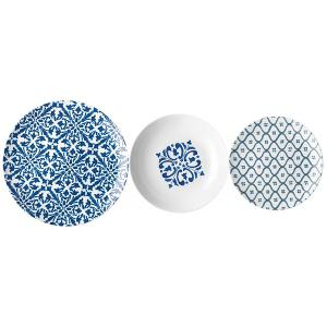 Le Maioliche Dinner Set of 18 Pieces Blue