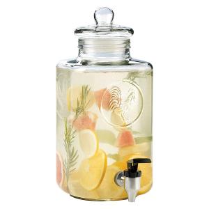 Glass Farm Dispenser 7 Liter with Glass Lid
