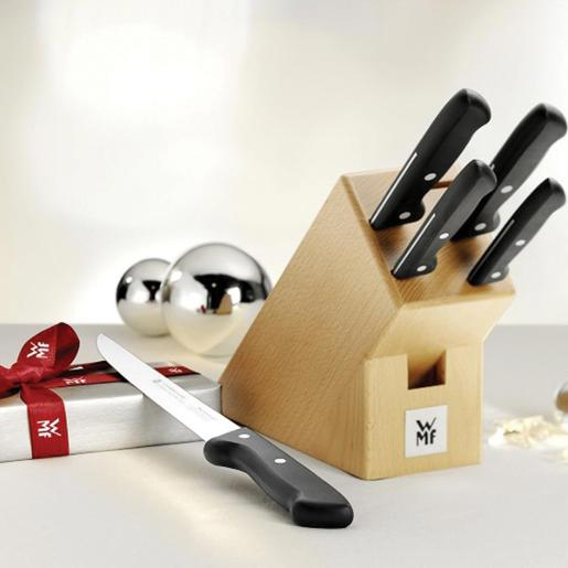 Classic Line Wooden Knife Block Set of 6 Pieces