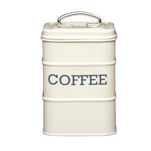 Coffee Canister Dia 11x17cm Creme