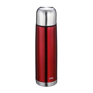 Vacuum Bottle .75 Liter Stainless Steel Red