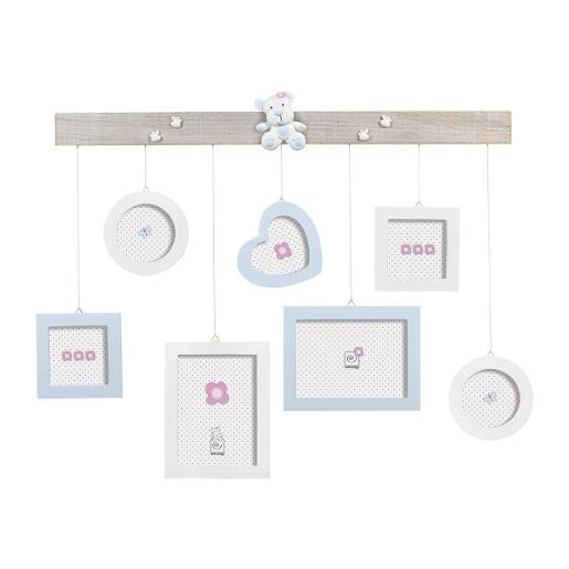 Wall Multi Picture Frame70x60cm Blue