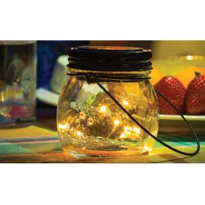 Solar Lantern With Handle LED 9x9cm Glass