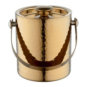Ice Bucket With Lid Gold
