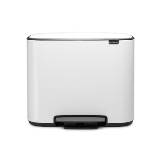 Bo Pedal Bin With 1 Inner Bucket 36 Liter White