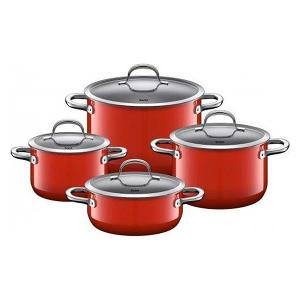 Silit Passion Cooking Pot Set of 4 Pieces Red