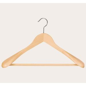 Suit Wide Wooden Hanger Natural Wood