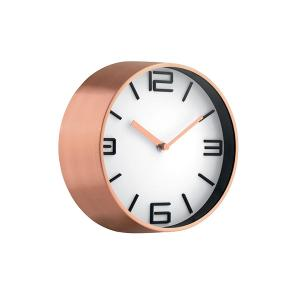 Wall Clock 22cm Copper