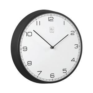 Wall Clock Round 32cm Black & White